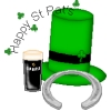 Saint Patrick's Day - Hat Horseshoe Guiness
